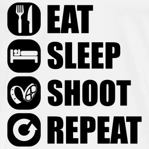 eat_sleep_shoot_repeat_6_1f Shirts met lange mouwen - Mannen Premium T-shirt