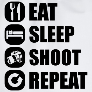 eat_sleep_shoot_repeat_5_1f T-Shirts - Turnbeutel