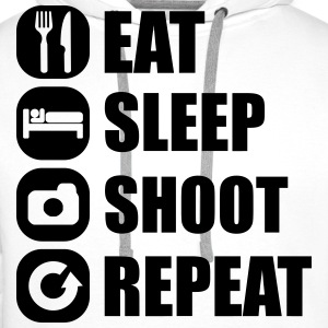 eat_sleep_shoot_repeat_3_1f T-Shirts - Männer Premium Hoodie