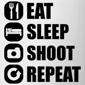 eat_sleep_shoot_repeat_3_1f Shirts - Mok