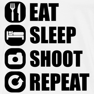 eat_sleep_shoot_repeat_3_1f Langarmshirts - Männer Premium T-Shirt