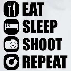 eat_sleep_shoot_repeat_1_1f Tee shirts - Sac de sport léger