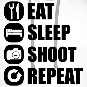 eat_sleep_shoot_repeat_1_1f T-Shirts - Männer Premium Hoodie