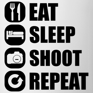 eat_sleep_shoot_repeat_1_1f T-shirts - Mok