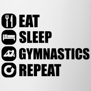 eat_sleep_gym_repeat_8_1f T-shirts - Kop/krus