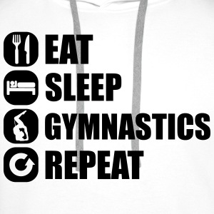 eat_sleep_gym_repeat_7_1f Koszulki - Bluza męska Premium z kapturem