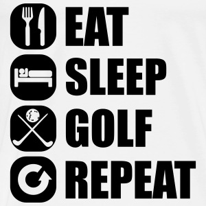 eat_sleep_golf_repeat_3_1f Langarmede T-skjorter - Premium T-skjorte for menn