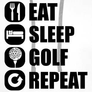 eat_sleep_golf_repeat_2_1f Koszulki - Bluza męska Premium z kapturem