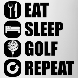 eat_sleep_golf_repeat_2_1f Magliette - Tazza