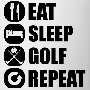 eat_sleep_golf_repeat_3_1f Magliette - Tazza