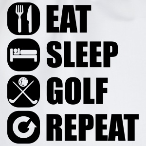eat_sleep_golf_repeat_3_1f Långärmade T-shirts - Gymnastikpåse