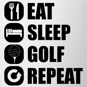 eat_sleep_golf_repeat_1_1f Magliette - Tazza