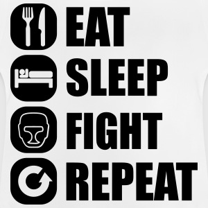 eat_sleep_fight_repeat_15_1f Skjorter - Baby-T-skjorte