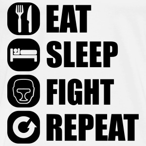 eat_sleep_fight_repeat_15_1f Manga larga - Camiseta premium hombre
