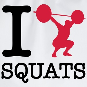 I  (Silhouette) Squats T-Shirts - Turnbeutel