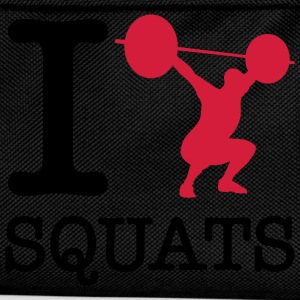 I  (Silhouette) Squats T-Shirts - Kinder Rucksack