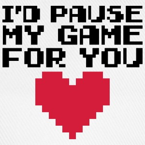Pause My Game For You  T-Shirts - Baseball Cap