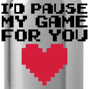 Pause My Game For You  T-shirts - Drikkeflaske