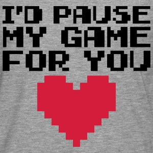 Pause My Game For You  Sweaters - Mannen Premium shirt met lange mouwen