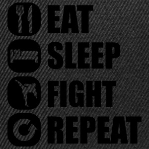 eat_sleep_fight_repeat_9_1f Tank Tops - Snapback Cap