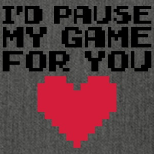 Pause My Game For You  Sweatshirts - Skuldertaske af recycling-material