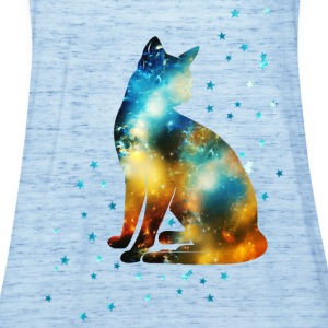 Space Pussy on the Milky Way, Galaxy, Cat, Star T-shirts - Vrouwen tank top van Bella