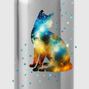Space Pussy on the Milky Way, Galaxy, Cat, Star T- - Water Bottle