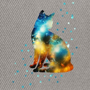 Space Katze on the Milky Way, Galaxie, Cat, Stern  - Snapback Cap