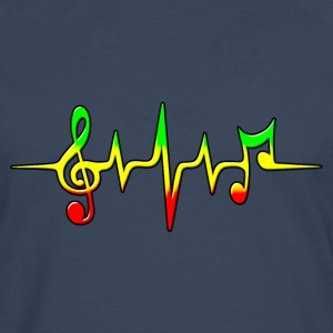 Reggae, music, notes, pulse, frequency, Rastafari  - Männer Premium Langarmshirt
