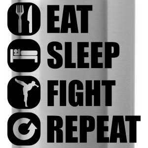 eat_sleep_fight_repeat_4_1f Tröjor - Vattenflaska