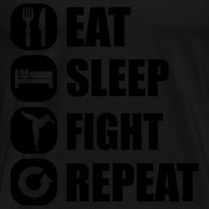 eat_sleep_fight_repeat_4_1f Tröjor - Premium-T-shirt herr