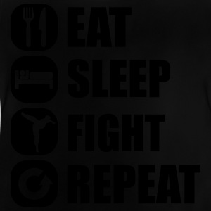eat_sleep_fight_repeat_4_1f Skjorter - Baby-T-skjorte