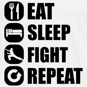eat_sleep_fight_repeat_3_1f Sweaters - Mannen Premium T-shirt