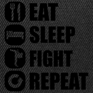 eat_sleep_fight_repeat_2_1f Sweats - Casquette snapback