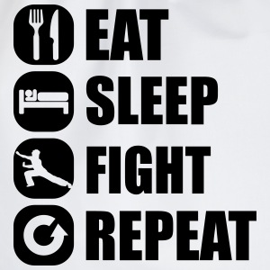 eat_sleep_fight_repeat_3_1f Hoodies - Drawstring Bag