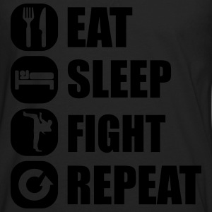 eat_sleep_fight_repeat_2_1f Tee shirts - T-shirt manches longues Premium Homme