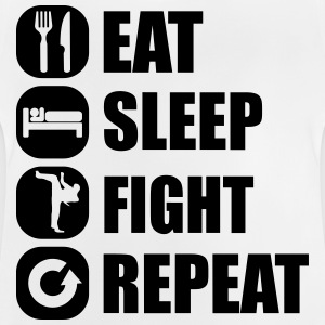 eat_sleep_fight_repeat_2_1f Skjorter - Baby-T-skjorte