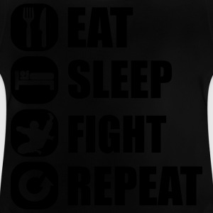 eat_sleep_fight_repeat_1_1f Gensere - Baby-T-skjorte