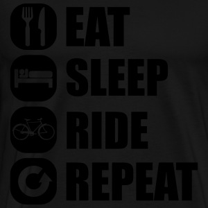 eat_sleep_ride_repeat_14_1f Gensere - Premium T-skjorte for menn