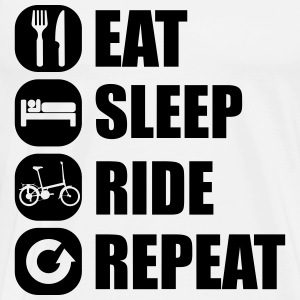eat_sleep_ride_repeat_12_1f Manga larga - Camiseta premium hombre