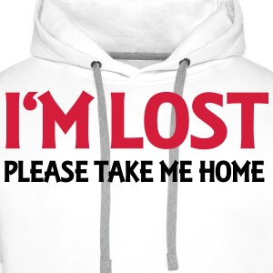 I'm lost - Please take me home Long sleeve shirts - Men's Premium Hoodie