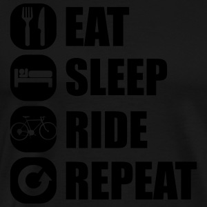 eat_sleep_ride_repeat_8_1f Shirts met lange mouwen - Mannen Premium T-shirt
