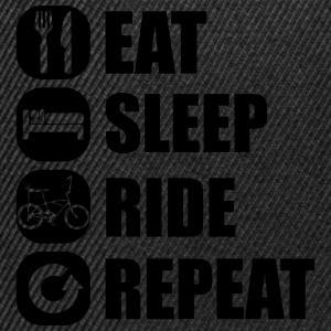 eat_sleep_ride_repeat_2_1f Manga larga - Gorra Snapback