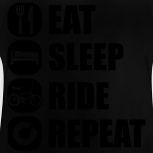 eat_sleep_ride_repeat_2_1f T-Shirts - Baby T-Shirt