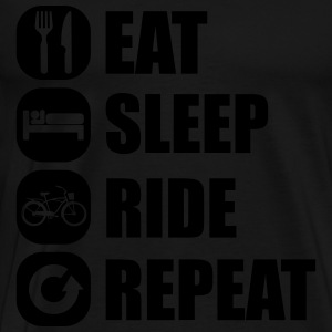 eat_sleep_ride_repeat_1_1f Sweaters - Mannen Premium T-shirt