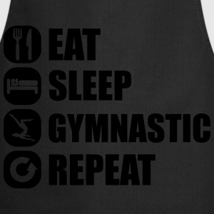 eat_sleep_gymnastic_repeat_6_1f Koszulki - Fartuch kuchenny