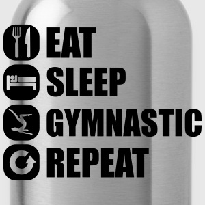 eat_sleep_gymnastic_repeat_6_1f T-shirts - Drikkeflaske