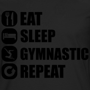 eat_sleep_gymnastic_repeat_6_1f T-shirts - Herre premium T-shirt med lange ærmer