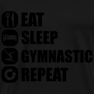eat_sleep_gymnastic_repeat_6_1f Toppe - Herre premium T-shirt