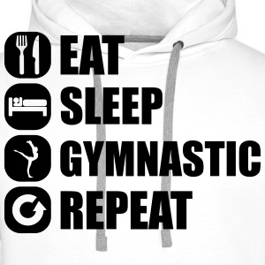 eat_sleep_gymnastic_repeat_5_1f T-skjorter - Premium hettegenser for menn
